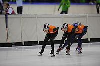SCHAATSEN: HEERENVEEN: 31-01-2014, IJsstadion Thialf, Training Topsport, Christiaan Bökkerink, Sjinkie Knegt, ©foto Martin de Jong