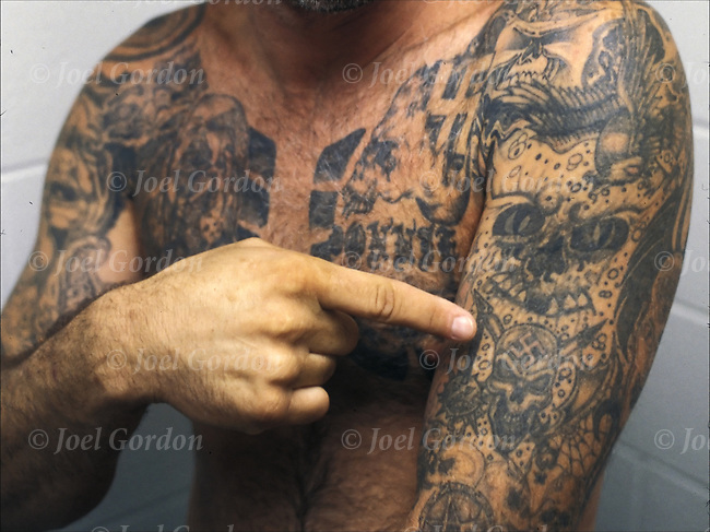 Inmate with aryan nation gang tattoos joel gordon for Orange county tattoo