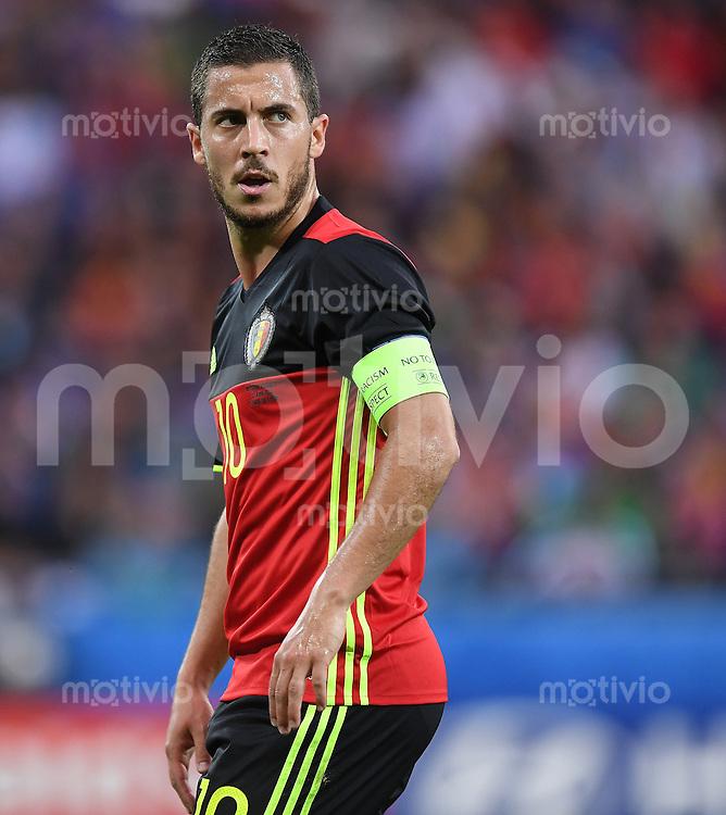 FUSSBALL EURO 2016 GRUPPE E IN LYON Belgien - Italien          13.06.2016 Eden Hazard (Belgien)