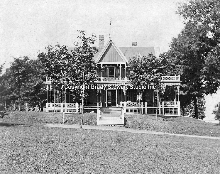 Lakewood NY: The Stewart family and students stayed at this Lakewood Boarding House during their trip to Lakewood/Lake Chautauqua - 1901. Photographs taken during a church field trip to Chautauqua Institution in New York (Lake Chautauqua). The Stewart family and friends visited Chautauqua during 1901 to hear Stewart relative, Dr. S.H. Clark  speak at the institute. Alice Brady Stewart chaperoned and Brady Stewart came along to photograph the trip.  The Gallery provides a glimpse of how the privileged and church faithful spent summers at Lake Chautauqua at the turn of the century.