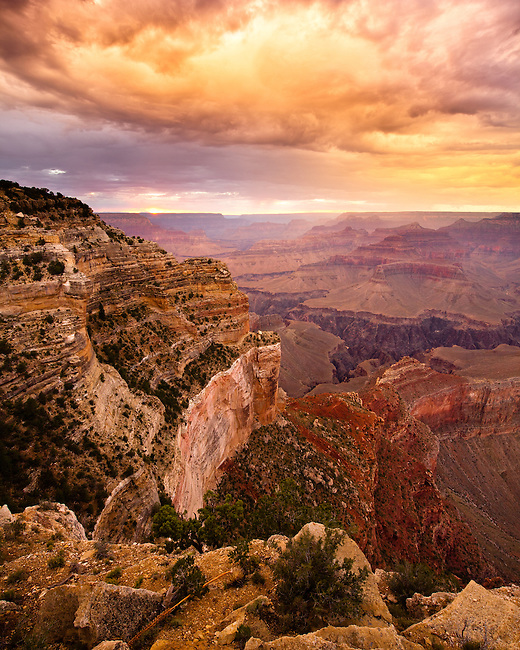 Sunset from the West Rim of the Grand Canyon.