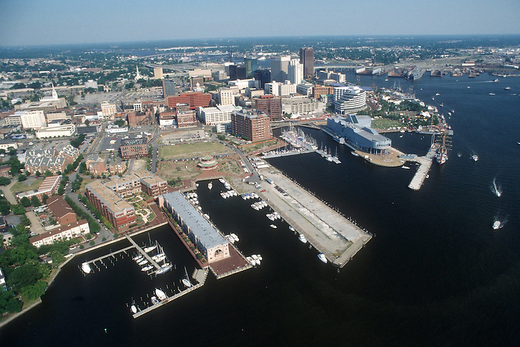 1994 June 06..Redevelopment.Downtown West (A-1-6)..LOOKING EAST.FREEMASON HARBOR.PIER B.NAUTICUS...NEG#.NRHA#..