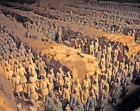 Terracotta Warriors, Tomb of Qin Shi Huang, Shaanxi Province, People's Republic of China