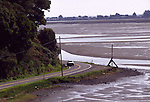 Coast Hwy One and Bolinas Lagoon at low tide