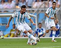 FUSSBALL WM 2014  VORRUNDE    GRUPPE F     Argentinien - Iran                         21.06.2014 Ezequiel Lavezzi (Argentinien) am Ball