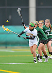 21 April 2012: University of Vermont Catamount midfielder/attacker Samantha Stern, a Senior from Cherry Hill, NJ, in action against the Binghamton University Bearcats at Virtue Field in Burlington, Vermont. The Lady cats defeated the visiting Lady Bearcats 12-7. Mandatory Credit: Ed Wolfstein Photo