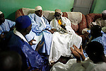 On the campaign road, President Abdoualaye Wade is recieved by the religious leades in Ngourane, Senegal. Gabriela Barnuevo. February 9, 2012.