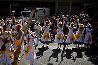 "Revellers attend the traditional ""Silletero"" parade during the Flower Festival in Medellin August 7, 2012. Photo by Eduardo Munoz Alvarez / VIEW."