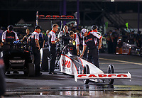 Apr 21, 2017; Baytown, TX, USA; Crew members with NHRA top fuel driver Steve Torrence during qualifying for the Springnationals at Royal Purple Raceway. Mandatory Credit: Mark J. Rebilas-USA TODAY Sports