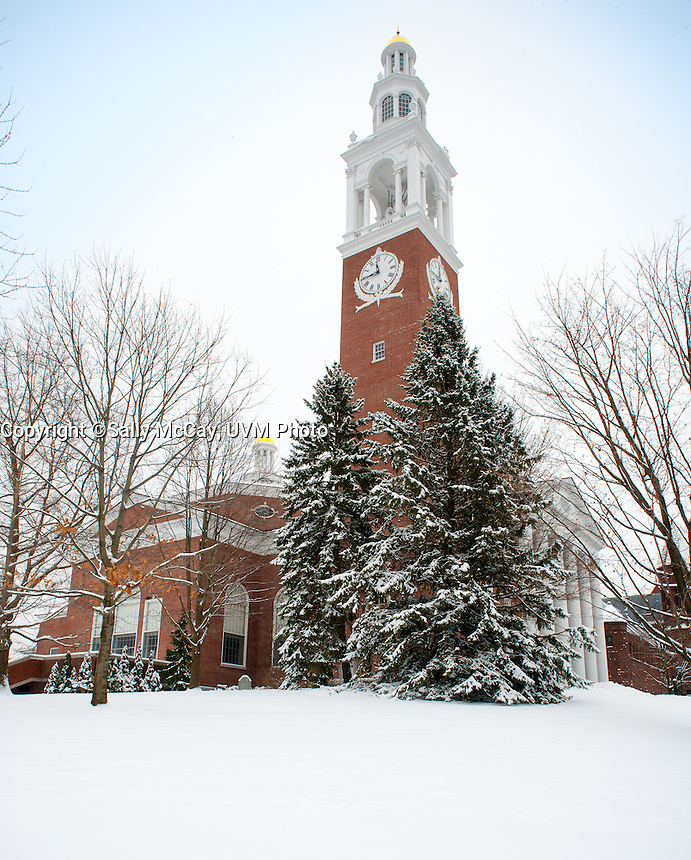The Ira Allen Chapel. UVM Winter Campus