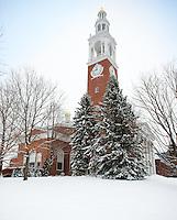 The Ira Allen Chapel. UVM Winter Campus