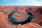 The Colorado River meaders through Horseshoe Bend, near Page, Arizona
