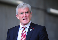 Stoke City manager Mark Hughes<br /> <br /> Photographer Kevin Barnes/CameraSport<br /> <br /> The Premier League - Swansea City v Stoke City - Saturday 22nd April 2017 - Liberty Stadium - Swansea<br /> <br /> World Copyright &copy; 2017 CameraSport. All rights reserved. 43 Linden Ave. Countesthorpe. Leicester. England. LE8 5PG - Tel: +44 (0) 116 277 4147 - admin@camerasport.com - www.camerasport.com