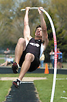 Sentinel/Dan Irving.West Ottawa senior Andy VanderYacht competes in the pole vault event Saturday afternoon at West Ottawa High School..(5/7/05)