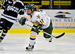 8 February 2009: University of Vermont Catamounts' forward Kyleigh Palmer, a Freshman from Winnipeg, Manitoba, in action against the University of New Hampshire Wildcats in the second game of a weekend series at Gutterson Fieldhouse in Burlington, Vermont. The Wildcats defeated the lady Catamounts 6-2 to sweep the 2-game series. Mandatory Photo Credit: Ed Wolfstein Photo