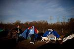 The SafeGround camp in Sacramento, Calif., January 14, 2011.