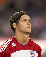 FC Dallas defender Zach Loyd (91). In a Major League Soccer (MLS) match, the New England Revolution defeated FC Dallas, 2-0, at Gillette Stadium on September 10, 2011.