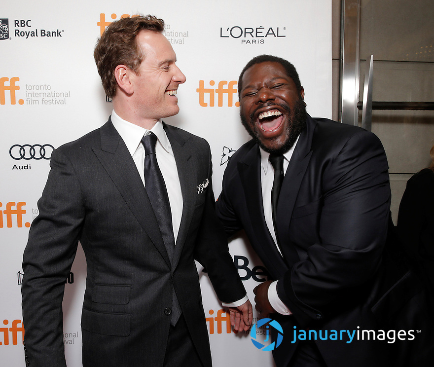 "Michael Fassbender and Director Steve McQueen are seen at Fox Searchlight's Premiere of ""12 Years A Slave"", on Friday, September 6th, 2013 in Toronto, Canada. (Photo by Todd Williamson/Invision for Fox Searchlight/AP Images)"