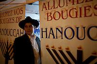 Francia, Parigi, festeggiamenti della comunità ebraica par Hanouka 2013