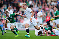 Harry Mallinder of England U20 goes on the attack. World Rugby U20 Championship Final between England U20 and Ireland U20 on June 25, 2016 at the AJ Bell Stadium in Manchester, England. Photo by: Patrick Khachfe / Onside Images