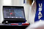 COLUMBUS, OH - MARCH 11:  A monitor shows the shot placement of a U.S. Air Force athlete's shots during the Division I Rifle Championships held at The French Field House on the Ohio State University campus on March 11, 2017 in Columbus, Ohio. (Photo by Jay LaPrete/NCAA Photos via Getty Images)