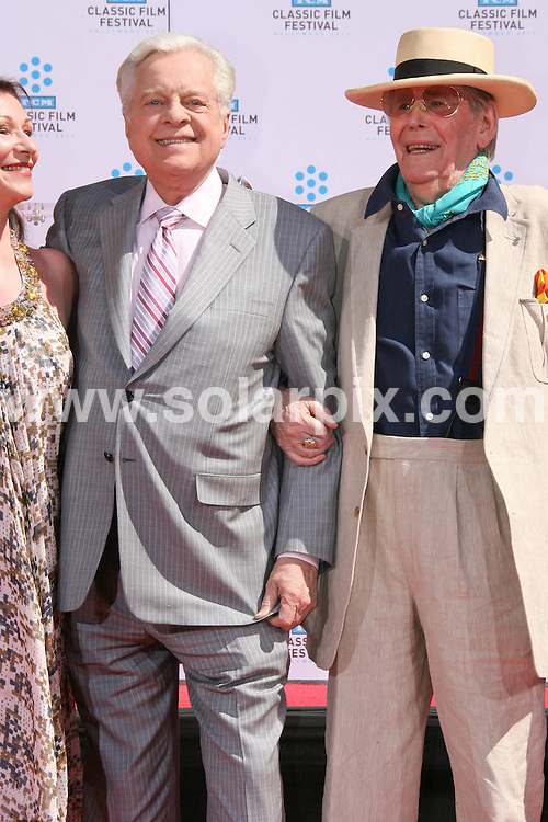 **ALL ROUND PICTURES FROM SOLARPIX.COM**                                             **SYNDICATION RIGHTS FOR UK, AUSTRALIA, DENMARK, PORTUGAL, S. AFRICA, SPAIN & DUBAI (U.A.E) & ASIA (EXCLUDING JAPAN) ONLY**                                                                                  Caption:  British actor Peter O'Toole Hand and Footprint Ceremony at Grauman's Chinese Theatre in Hollywood on April 30, 2011 - Grauman's Chinese Theatre - Hollywood, CA, USA                                                                               This pic: Robert Osborne, Peter O'Toole with his daughter Kate O'Tooles      DATE:                                                            **MUST CREDIT SOLARPIX.COM OR DOUBLE FEE WILL BE CHARGED**                                                                      **MUST AGREE FEE BEFORE ONLINE USAGE**                               **CALL US ON: +34 952 811 768 or LOW RATE FROM UK 0844 617 7637**