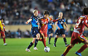 (L to R) Ellen White (Arsenal),  Ji So-Yun (Leonessa), NOVEMBER 30, 2011 - Football / Soccer : TOYOTA Vitz Cup during Frendiy Women's Football match INAC Kobe Leonessa 1-1 Arsenal Ladies FC at National Stadium in Tokyo, Japan. (Photo by Jun Tsukida/AFLO SPORT) [0003]
