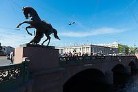 Anichkov Bridge Over Fontanka River, St.-Petersburg