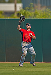7 March 2013: Washington Nationals outfielder Corey Brown pulls in a Jose Altuve fly ball during a Spring Training game against the Houston Astros at Osceola County Stadium in Kissimmee, Florida. The Astros defeated the Nationals 4-2 in Grapefruit League play. Mandatory Credit: Ed Wolfstein Photo *** RAW (NEF) Image File Available ***