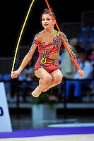Anastasiya Kisse of Bulgaria (junior) performs at 2010 World Cup at Portimao, Portugal on March 13, 2010.  (Photo by Tom Theobald).