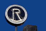 USA, California, Los Angeles. The Roxy Theatre sign on Sunset Strip in West Hollywood.