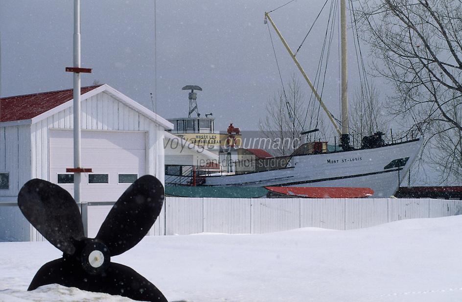 Amérique/Amérique du Nord/Canada/Quebec/Ile-aux-Coudres : Le musée maritime