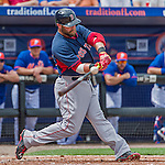 8 March 2015: Boston Red Sox outfielder Bryce Brentz in Spring Training action against the New York Mets at Tradition Field in Port St. Lucie, Florida. The Mets fell to the Red Sox 6-3 in Grapefruit League play. Mandatory Credit: Ed Wolfstein Photo *** RAW (NEF) Image File Available ***