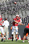 22 September 2007: North Carolina State's Daniel Evans. The Clemson University Tigers defeated the North Carolina State University Wolfpack 42-20 at Carter-Finley Stadium in Raleigh, North Carolina in an Atlantic Coast Conference NCAA College Football Division I game.