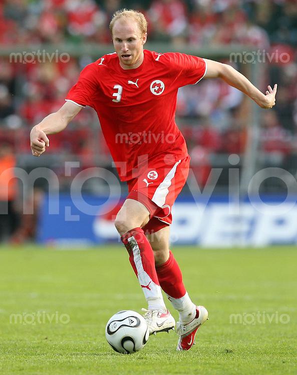 Fussball  International WM2006  Freundschaftsspiel Schweiz - China Ludovic Magnin (SUI)