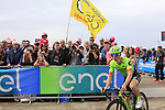 Tom-Jelte Slagter (NED) Cannondale-Drapac at sign on before Stage 2 of the 100th edition of the Giro d'Italia 2017, running 221km from Olbia to Tortoli, Sardinia, Italy. 6th May 2017.<br /> Picture: Ann Clarke | Cyclefile<br /> <br /> <br /> All photos usage must carry mandatory copyright credit (&copy; Cyclefile | Ann Clarke)
