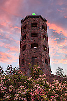 &quot;Enger Tower in Bloom&quot;<br /> <br /> Enger Tower is adorned with summer blossoms as the sunset paints the sky.