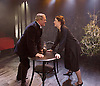 The Father <br /> by August Strindberg <br /> at Trafalgar Studios <br /> London, Great Britain <br /> press photocall <br /> 12th March 2015 <br /> <br /> <br /> Alex Ferns as Captain <br /> <br /> Emily Dobbs as Laura <br /> <br /> <br /> <br /> <br /> Photograph by Elliott Franks <br /> Image licensed to Elliott Franks Photography Services