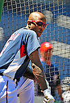 3 July 2010: Washington Nationals' outfielder Nyjer Morgan awaits his turn in the batting cage prior to a game against the New York Mets at Nationals Park in Washington, DC. The Nationals defeated the Mets 6-5 in the third game of their 4-game series. Mandatory Credit: Ed Wolfstein Photo