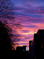 Sunset over Edinburgh University