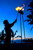 Hawaiian Sunset Torch Lighting