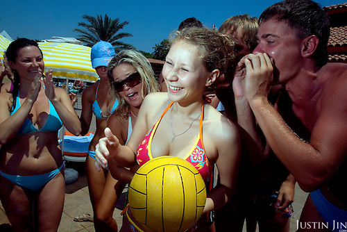 Russians relax and have fun at the Marco Polo resort in Antalya, on Turkey's Mediterranean coast. Russia's new wealth is allowing its citizens to travel to places they once could not.