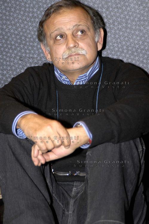 Roma 10 Febbraio 2008.assemblea sinistra arcobaleno.Gianni Rinaldini FIOM