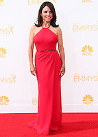 LOS ANGELES, CA, USA - AUGUST 25: Actress Julia Louis-Dreyfus arrives at the 66th Annual Primetime Emmy Awards held at Nokia Theatre L.A. Live on August 25, 2014 in Los Angeles, California, United States. (Photo by Celebrity Monitor)