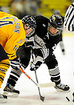 29 December 2007: Western Michigan University Broncos' forward Chris Clackson, a Sophomore from Pittsburgh, PA, in action against the Quinnipiac University Bobcats at Gutterson Fieldhouse in Burlington, Vermont. The Bobcats defeated the Broncos 2-1 in the first game of the Sheraton/TD Banknorth Catamount Cup Tournament...Mandatory Photo Credit: Ed Wolfstein Photo