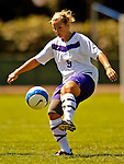 2 September 2007: University of Central Arkansas Sugar Bears' Aly Murray, a Freshman from Mustang, Oklahoma, in action against the University of New Hampshire Wildcats at Historic Centennial Field in Burlington, Vermont. The Wilcats shut out the Sugar Bears 3-0 during the TD Banknorth Soccer Classic...Mandatory Photo Credit: Ed Wolfstein Photo