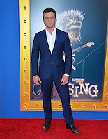 LOS ANGELES, CA. December 3, 2016: Actor Taron Egerton at the world premiere of &quot;Sing&quot; at the Microsoft Theatre LA Live.<br /> Picture: Paul Smith/Featureflash/SilverHub 0208 004 5359/ 07711 972644 Editors@silverhubmedia.com