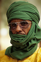 Ballayara, Niger - Tuareg Man, Veil, Sunglasses