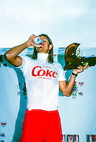 Brad Gerlach (USA)  buckled down in 1991 and made a serious run at the world title, finding the winner's circle in Australia's Coke Classic  with Todd Holland (USA) finishing runner up. circa 1991 Photo: joliphotos.com