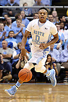16 November 2014: North Carolina's Nate Britt. The University of North Carolina Tar Heels played the Robert Morris University Colonials in an NCAA Division I Men's basketball game at the Dean E. Smith Center in Chapel Hill, North Carolina. UNC won the game 103-59.